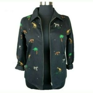 Vintage Quacker Factory Womens Embroidered Jacket